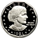 1981-S Susan B. Anthony Dollar Gem Proof Type-1