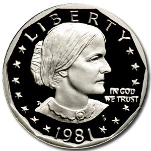 1981-S Susan B. Anthony Dollar Gem Proof Type-1