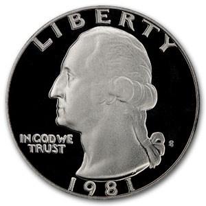 1981-S Washington Quarter Type-II Gem Proof