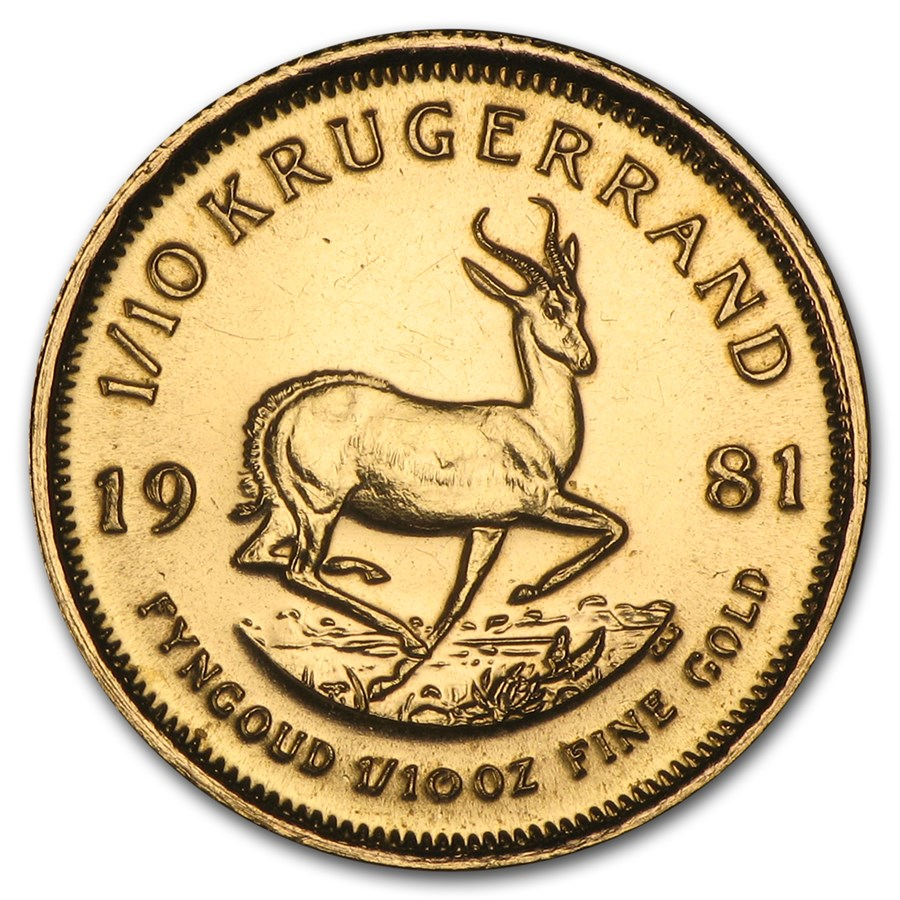 1981 South Africa 1/10 oz Gold Krugerrand