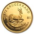 1981 South Africa 1/2 oz Gold Krugerrand