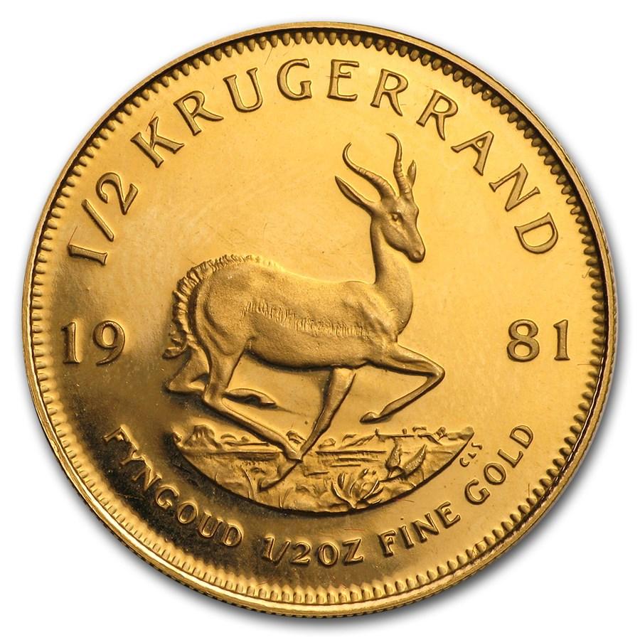 1981 South Africa 1/2 oz Proof Gold Krugerrand