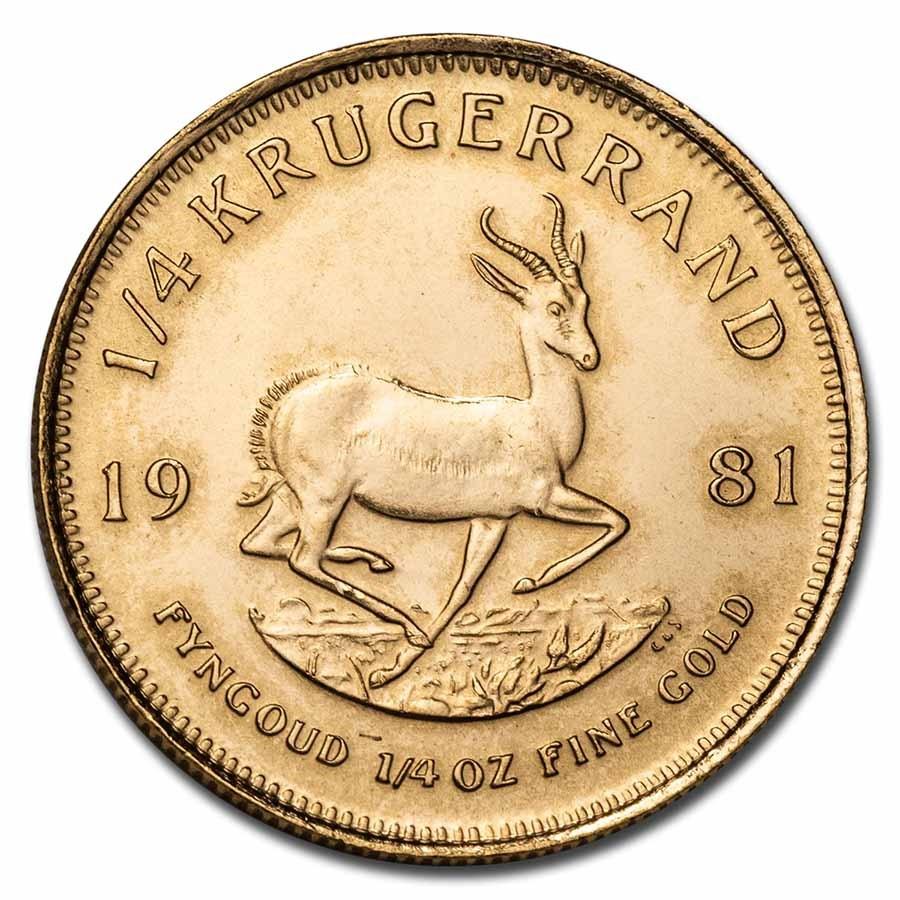 1981 South Africa 1/4 oz Gold Krugerrand BU