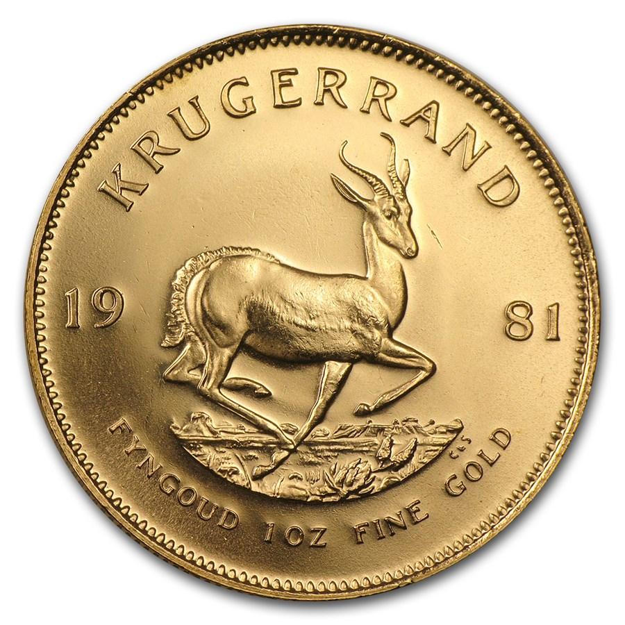 1981 South Africa 1 oz Gold Krugerrand BU