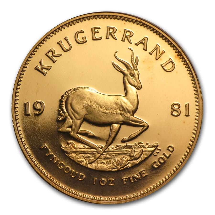 1981 South Africa 1 oz Proof Gold Krugerrand