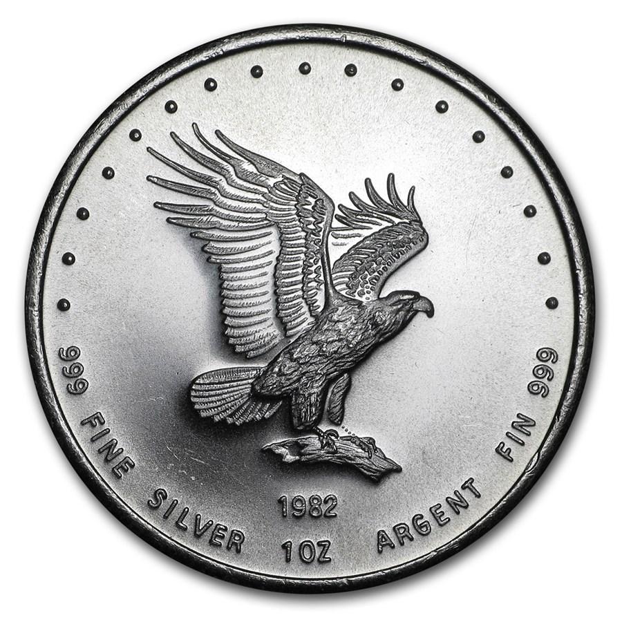 1982 1 oz Silver Round - Monex Eagle