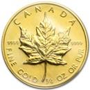 1982 Canada 1/4 oz Gold Maple Leaf BU