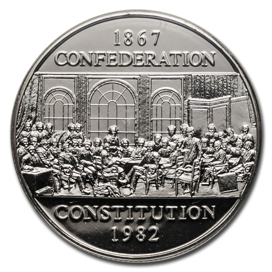 1982 Canada Nickel Dollar Constitution Prooflike (Box w/out COA)