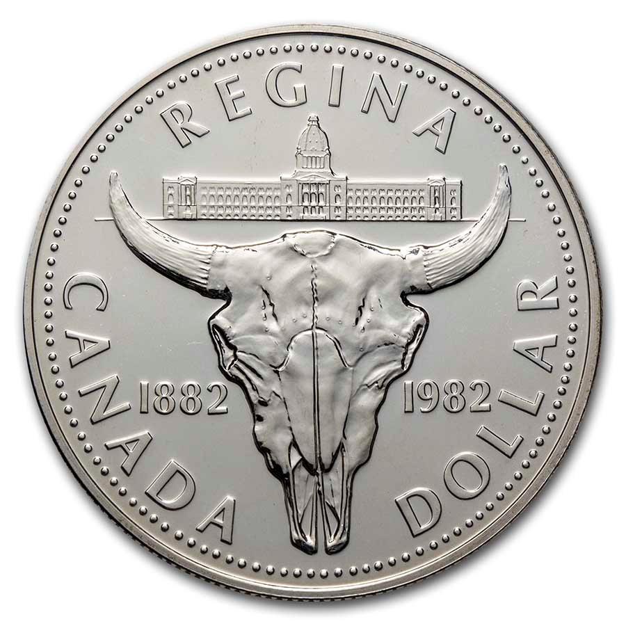 1982 Canada Silver Dollar BU (Bison Skull)