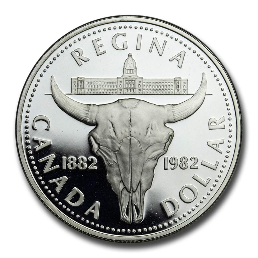 1982 Canada Silver Dollar Proof (Bison Skull)