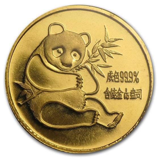 1982 China 1/10 oz Gold Panda BU (Sealed)