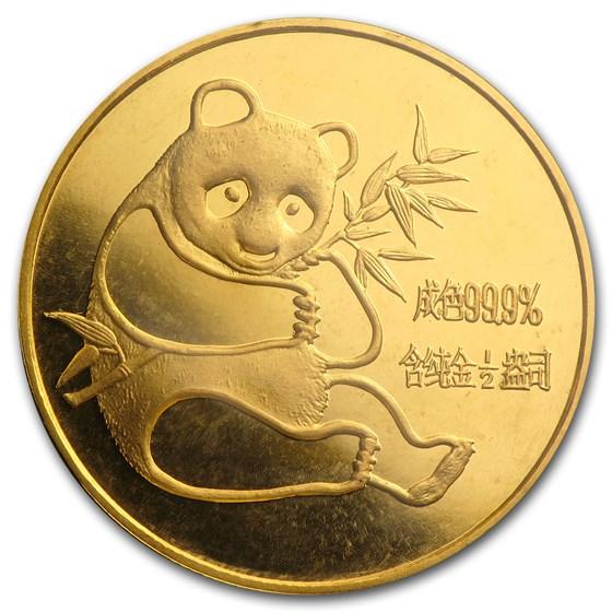 1982 China 1/2 oz Gold Panda BU (Sealed)