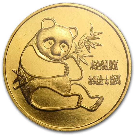 1982 China 1/4 oz Gold Panda BU (Sealed)