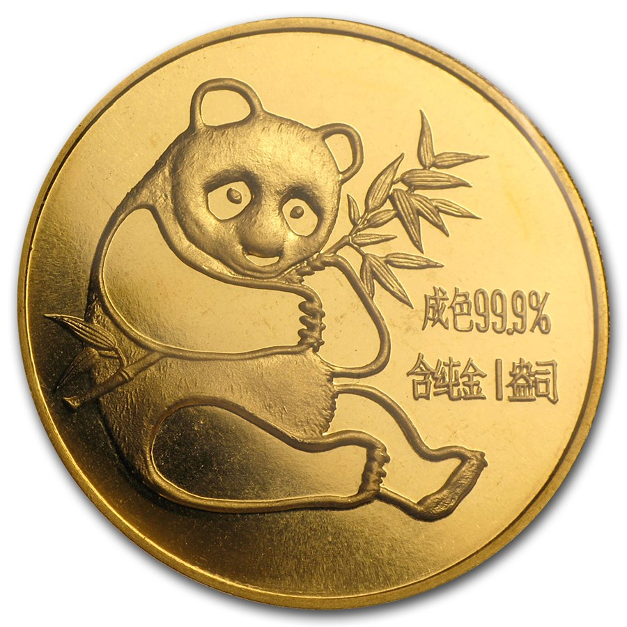 1982 China 1 oz Gold Panda BU (Sealed)