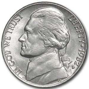 1982-D Jefferson Nickel BU