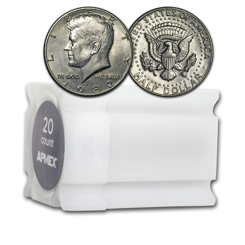 Uncirculated 1982 Kennedy Half Dollar D Roll From Bag Mint or Bank BU