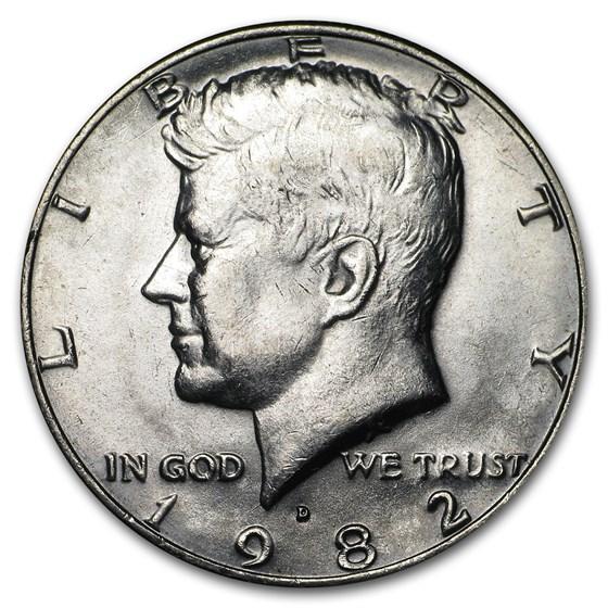 1982-D Kennedy Half Dollar BU