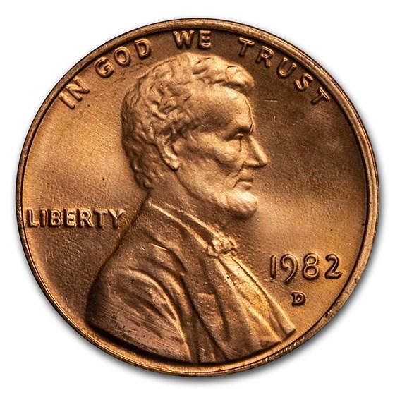 1982-D Lincoln Cent BU (Zinc, Large Date)