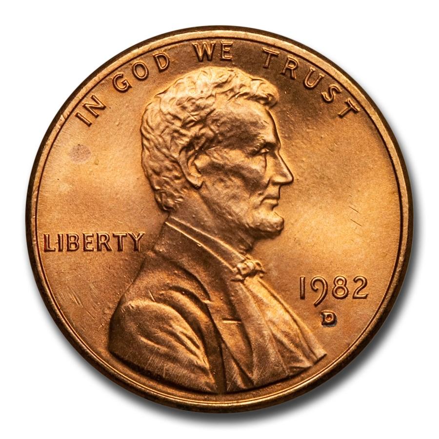 1982-D Lincoln Cent BU (Zinc, Small Date)