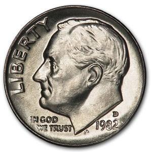 1982-D Roosevelt Dime BU