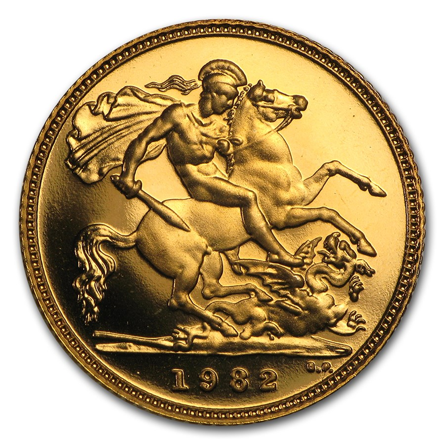 1982 Great Britain Gold 1/2 Sovereign Proof
