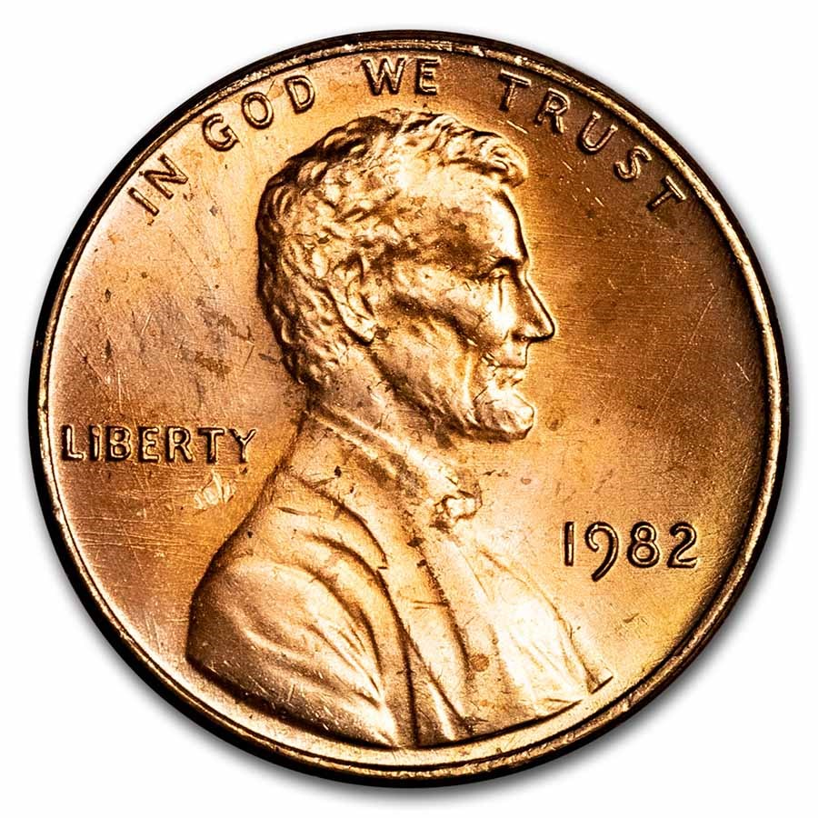 1982 Lincoln Cent BU (Copper, Small Date)