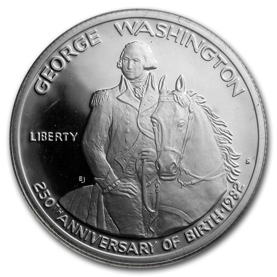 1982-S George Washington 1/2 Dollar Silver Commem Prf (Box & COA)