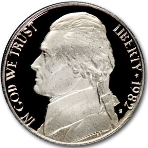 1982-S Jefferson Nickel Gem Proof