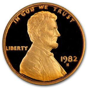 1982-S Lincoln Cent Gem Proof (Red)