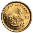 1982 South Africa 1/10 oz Gold Krugerrand BU