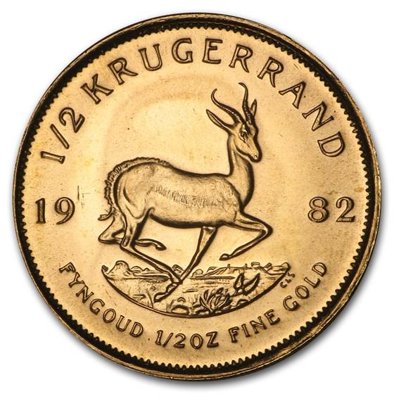 1982 South Africa 1/2 oz Gold Krugerrand