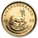 1982 South Africa 1/4 oz Gold Krugerrand