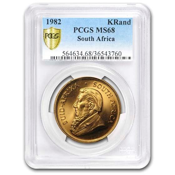 1982 South Africa 1 oz Gold Krugerrand MS-68 PCGS