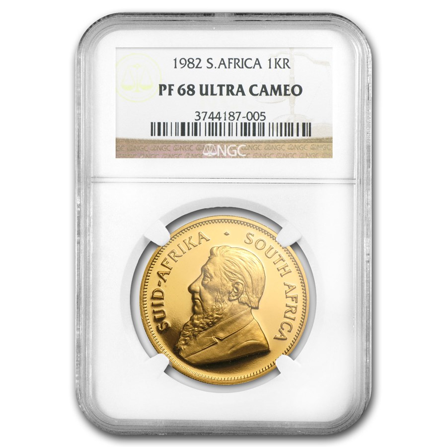 1982 South Africa 1 oz Gold Krugerrand PF-68 NGC