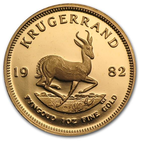 1982 South Africa 1 oz Proof Gold Krugerrand