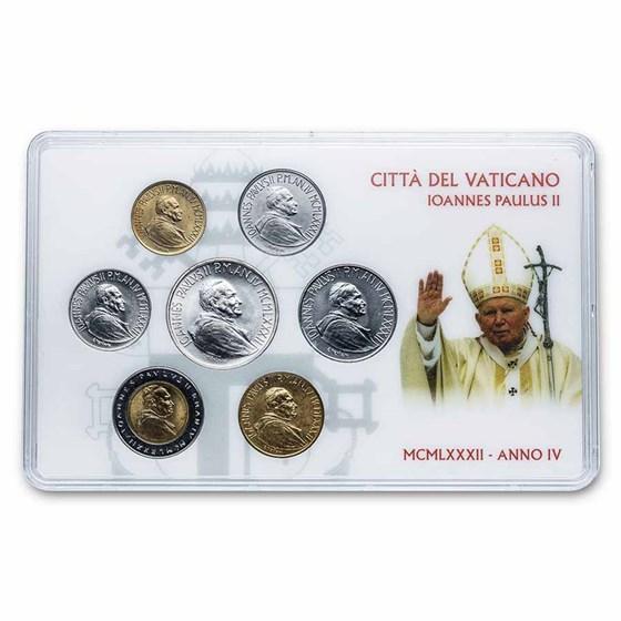 1982 Vatican City Pope John Paul II 7-Coin Set BU
