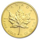 1983 Canada 1/4 oz Gold Maple Leaf BU