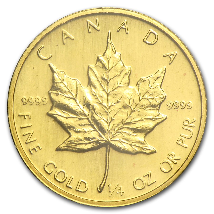 1983 Canada 1/4 oz Gold Maple Leaf BU