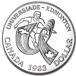1983 Canada Silver Dollar BU (Edmonton University Games)