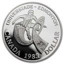 1983 Canada Silver Dollar Proof (Edmonton University Games)