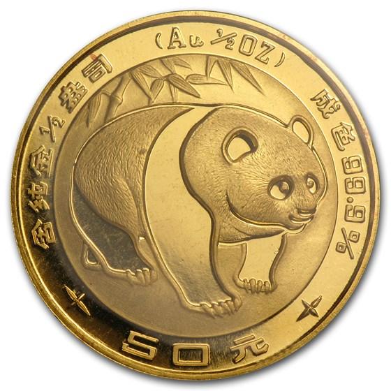 1983 China 1/2 oz Gold Panda BU (Sealed)