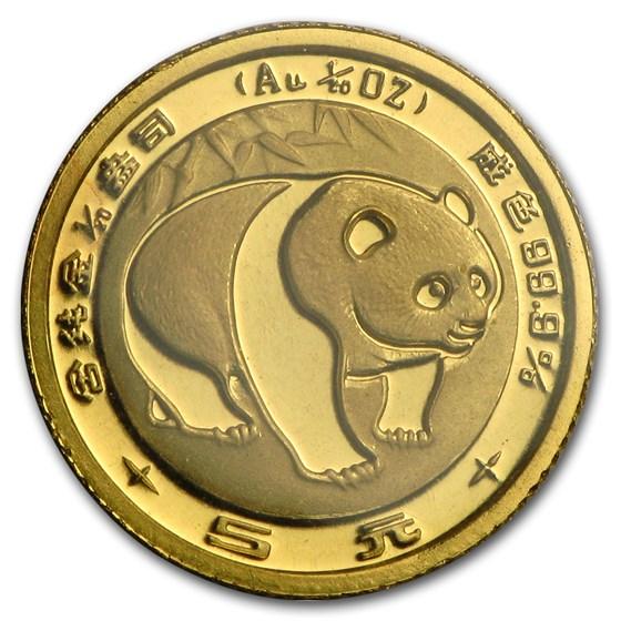 1983 China 1/20 oz Gold Panda BU (Sealed)