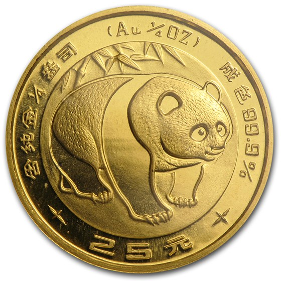 1983 China 1/4 oz Gold Panda BU (Sealed)