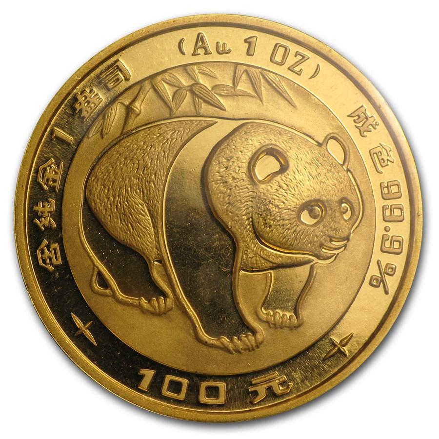 1983 China 1 oz Gold Panda BU (Sealed)