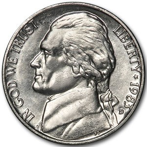 1983-D Jefferson Nickel BU