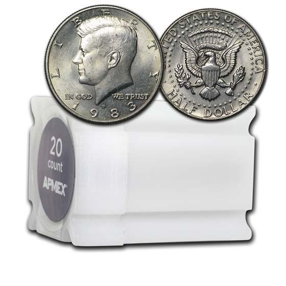 1983-D Kennedy Half Dollar 20-Coin Roll BU