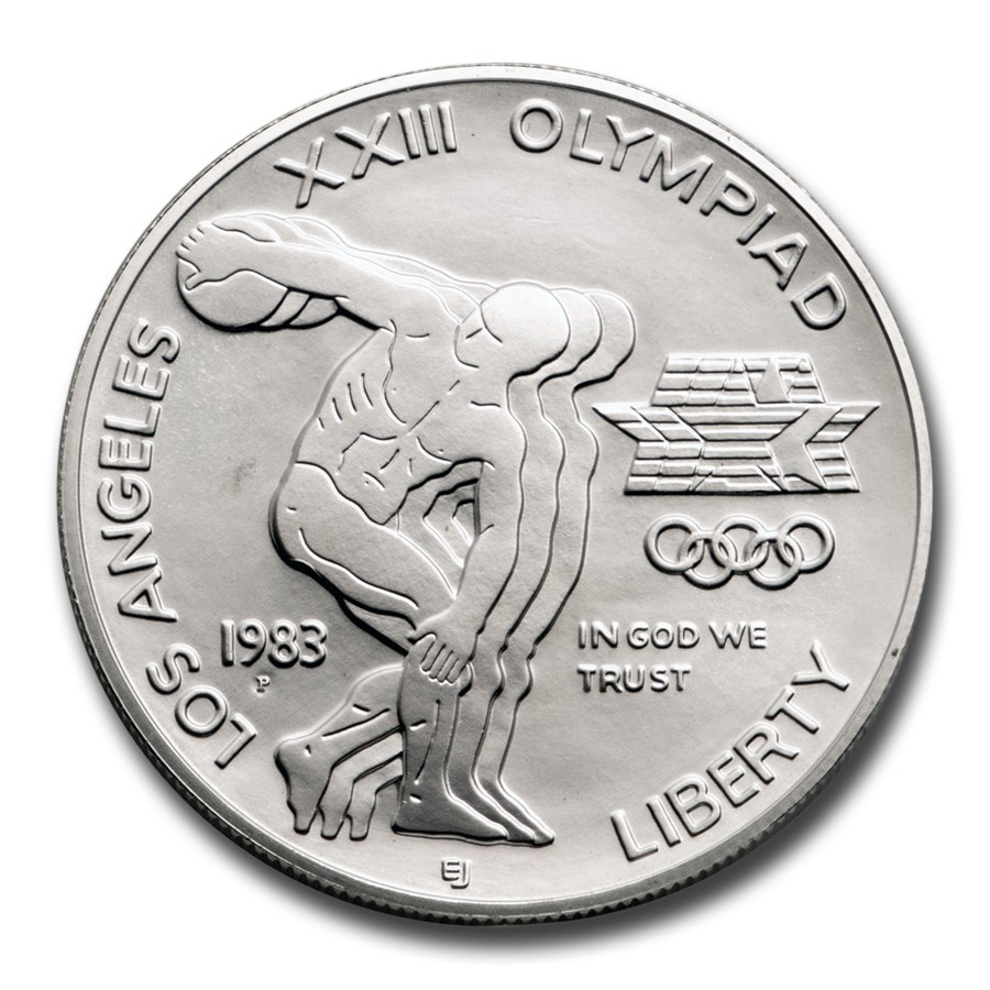 1983-P Olympic $1 Silver Commem BU (w/Box & COA)