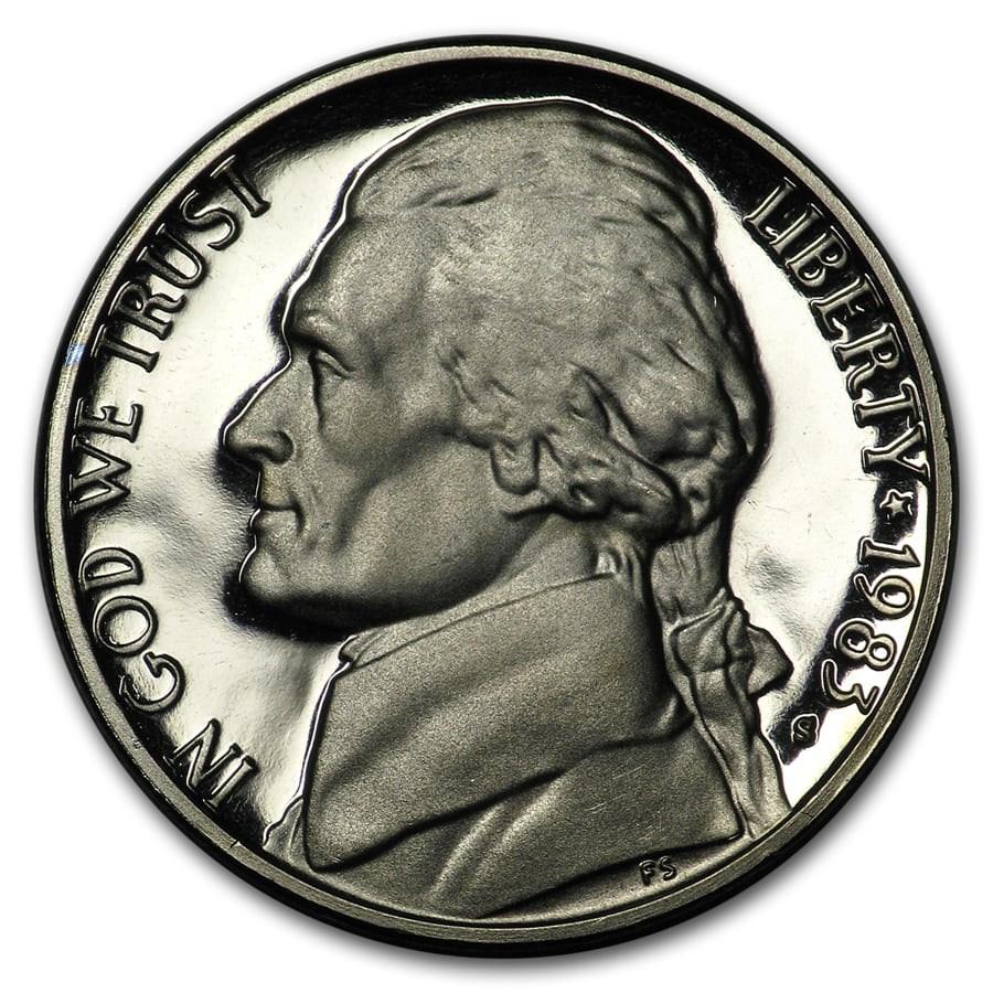 1983-S Jefferson Nickel Gem Proof