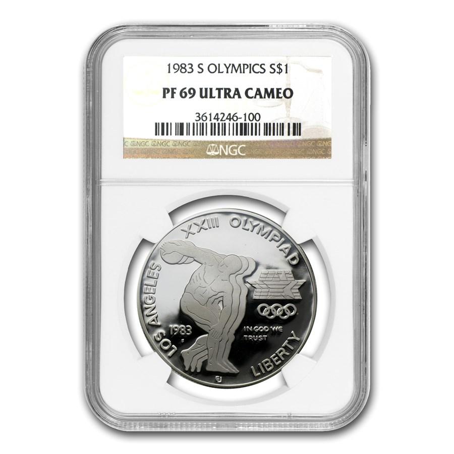 1983-S Olympic $1 Silver Commem PF-69 NGC