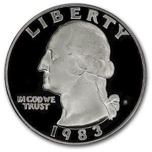 1983-S Washington Quarter Gem Proof